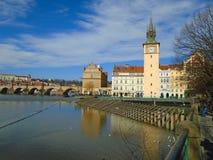 历史的城市布拉格看法,好的老地标和大厦、屋顶和塔 捷克共和国的访问,欧洲 图库摄影