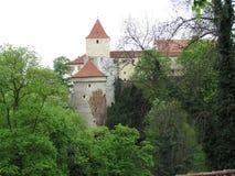 历史的城市布拉格看法,好的老地标和大厦、屋顶和塔 捷克共和国的访问,欧洲 免版税图库摄影