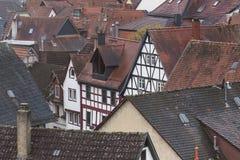 历史的城市gelnhausen德国 库存照片