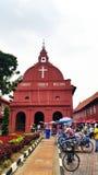 历史的基督教会在马六甲 免版税库存照片