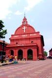 历史的基督教会Melaka 图库摄影
