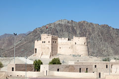 历史的堡垒在富查伊拉 免版税库存照片