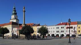 历史的大广场在Kromeriz,捷克共和国 免版税库存图片