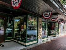 历史的大街的帆柱百货商店位于哥伦比亚,南卡罗来纳 免版税库存照片