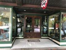 历史的大街的帆柱百货商店位于哥伦比亚,南卡罗来纳 库存照片