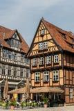 历史的奎德林堡在德国 库存图片