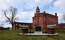历史的奥尔德敦马纳萨斯,威廉王子县法院大楼,弗吉尼亚 图库摄影