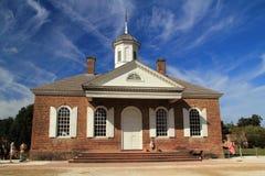 历史的威廉斯堡法院大楼 免版税库存照片