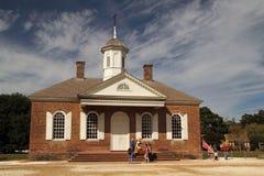 历史的威廉斯堡法院大楼 库存图片