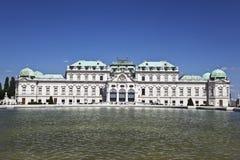 历史的宫殿上部眺望楼,维也纳,奥地利 图库摄影