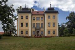 历史的宫殿在Lomnica,波兰 库存图片