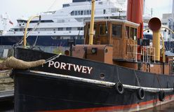 历史的小船 免版税库存照片