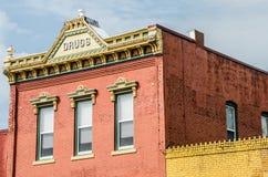 历史的小镇建筑学 库存照片