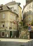 历史的居民住房在维也纳市,奥地利老镇  库存图片