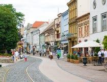 历史的市中心在科希策,斯洛伐克 库存图片