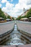 历史的市中心在科希策,斯洛伐克 免版税库存照片