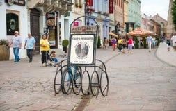 历史的市中心在科希策,斯洛伐克 图库摄影