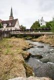 历史的市中心施瓦巴赫 库存图片