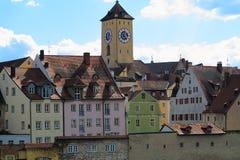 历史的市中心雷根斯堡 库存图片