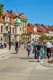 历史的市场在普什奇纳,波兰 免版税图库摄影