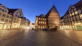 历史的市场在老城希尔德斯海姆德国 无缝的360度录影圈 股票录像