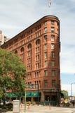 历史的布朗华园大饭店在街市丹佛 免版税库存图片