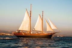 历史的帆船在亚得里亚 库存照片