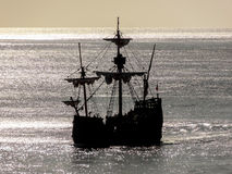历史的帆船 库存照片