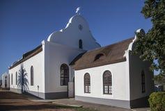 历史的德国使命教会在Elim村庄 库存照片