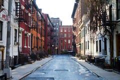 历史的快乐街道在纽约 免版税库存照片