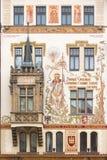 历史的房子在布拉格,捷克 库存图片