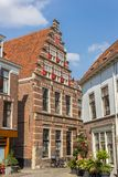 历史的房子在莱顿的中心 库存照片