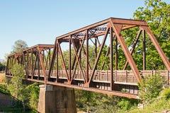 历史的支架火车桥梁 免版税库存图片
