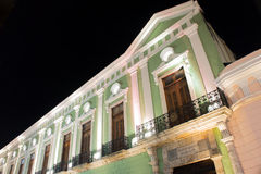 历史的政府宫殿大厦在梅里达,墨西哥 库存图片