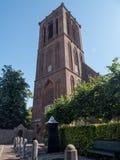 历史的教会在埃尔堡镇  库存照片