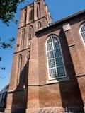 历史的教会在埃尔堡镇  免版税库存照片