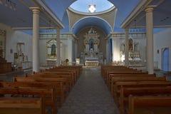 历史的教会在智利的阿塔卡马沙漠 免版税库存图片