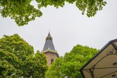 历史的教会在de Groede village在Zeelandic富兰德 库存照片