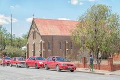 历史的教会在Jagersfontein 免版税库存照片