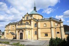 历史的教会在Wambierzyce,波兰 图库摄影