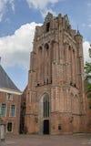 历史的教会在Wijk bij Duurstede的中心 库存照片