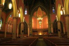 历史的教会契约,波士顿,大量精妙的内部, 2014年 免版税库存照片