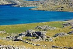 历史的教会废墟, Krk海岛  图库摄影