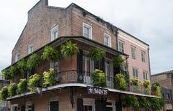 历史的新奥尔良法国街区 免版税库存图片