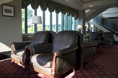 历史的旅馆大厅 库存照片