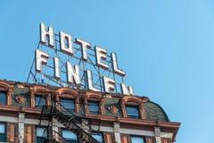 历史的旅馆特写镜头视图 免版税库存照片