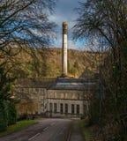 历史的朗福德磨房,Nailsworth,格洛斯特郡,英国 免版税图库摄影