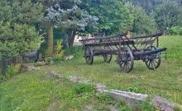 历史的木支架,东波希米亚 库存图片