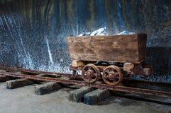 历史的木盐提取机器 免版税库存图片