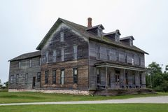历史的木结构 库存图片